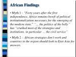 african findings