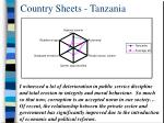 country sheets tanzania