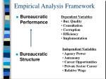 empirical analysis framework