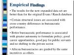 empirical findings