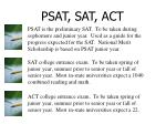 psat sat act
