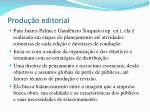 produ o editorial