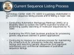 current sequence listing process