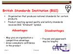 british standards institution bsi