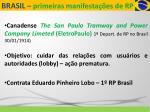 brasil primeiras manifesta es de rp