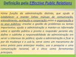 defini o pela effective public relations