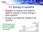6 1 energy in systems