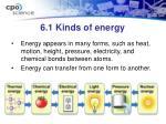 6 1 kinds of energy