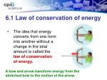 6 1 law of conservation of energy