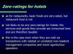zero ratings for hotels