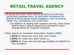 retail travel agency