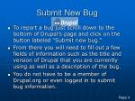 submit new bug