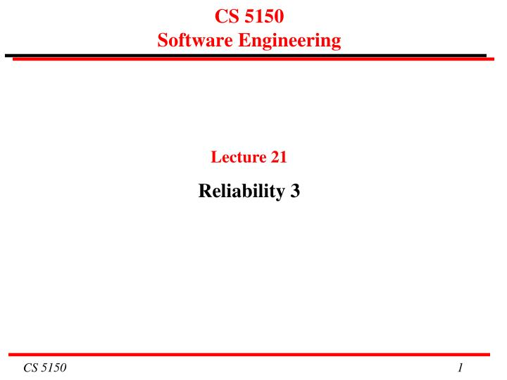 cs 5150 software engineering n.