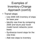 examples of inventory change approach cont d