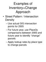 examples of inventory change approach