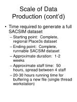 scale of data production cont d1