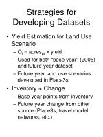 strategies for developing datasets