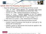 sdoe 605 pre reading assignment 1