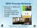 nees diversity workshop