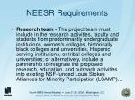 neesr requirements