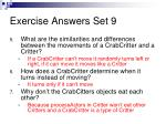 exercise answers set 91