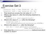 exercise set 3