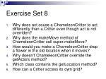 exercise set 8