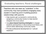 evaluating teachers rural challenges
