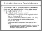 evaluating teachers rural challenges2