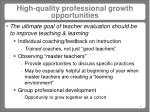 high quality professional growth opportunities