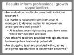 results inform professional growth opportunities
