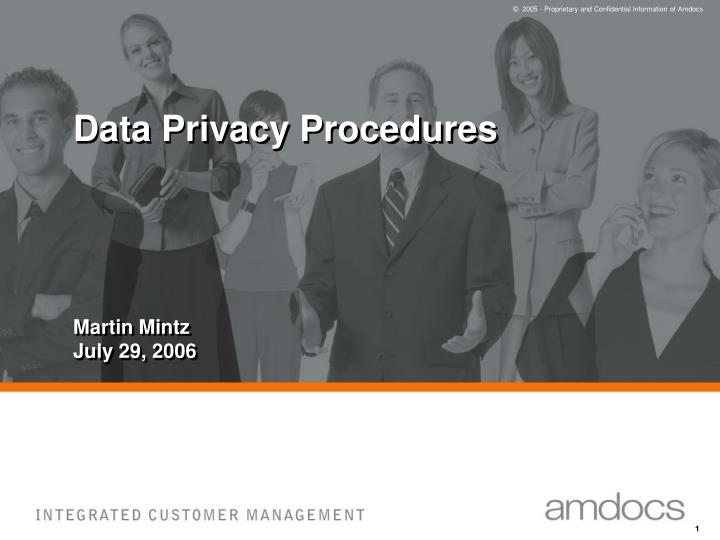data privacy procedures n.