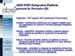 absi sfdc integration platform powered by pervasive ii