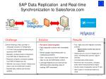 sap data replication and real time synchronization to salesforce com