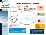 content management customers