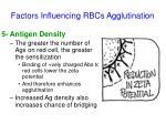 factors influencing rbcs agglutination3