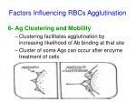 factors influencing rbcs agglutination4
