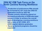 2004 nc iom task force on the north carolina nursing workforce