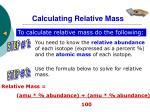 calculating relative mass