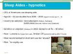 sleep aides hypnotics