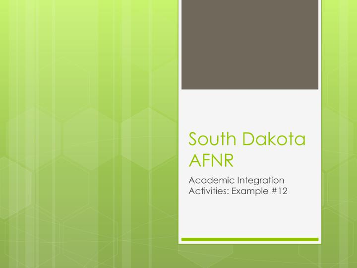 south dakota afnr n.