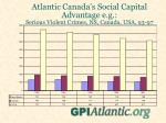 atlantic canada s social capital advantage e g serious violent crimes ns canada usa 93 97