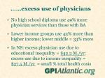 excess use of physicians
