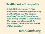 health cost of inequality