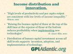 income distribution and innovation