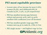 pei most equitable province