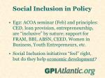 social inclusion in policy