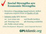 social strengths are economic strengths