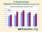 volunteerism atlantic provinces lead formal rate