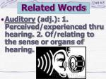 related words15